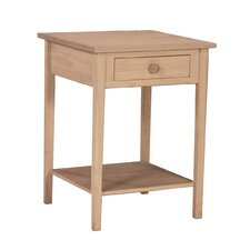 <strong>International Concepts</strong> Unfinished Hampton 1 Drawer Nightstand