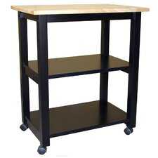 Dining Essentials Kitchen Cart with Butcher Block Top