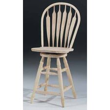 "<strong>International Concepts</strong> Unfinished Wood 24"" Swivel Bar Stool"