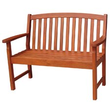 <strong>International Concepts</strong> Slatback Hardwood Garden Bench