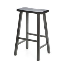 "29"" Saddleseat Barstool (Distressed Black)"
