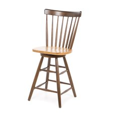 "Madison Park 24"" Spindleback Swivel Counter Stool in Cinnamon/Espresso"