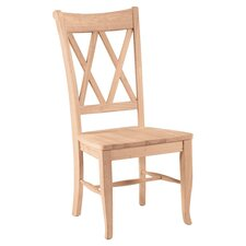 <strong>International Concepts</strong> Double X-Back Side Chair (Set of 2)