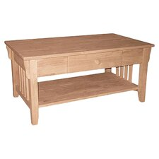 Mission Coffee Table with Drawer