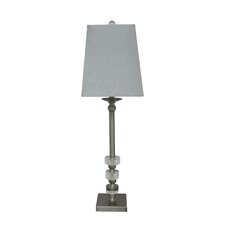 "Metal and Crystal 32"" H Buffet Table Lamp"