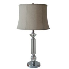 Mercury Glass and Metal Table Lamp