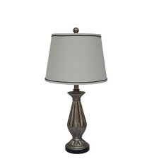 "26"" H Resin Table Lamp in Antique Silver"