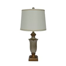 "28"" H Resin Table Lamp in Antique Silver"