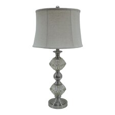 "Mercury Glass and Metal 30"" H Table Lamp"
