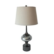 "Mercury Glass and Metal 31"" H Table Lamp"