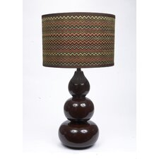 "29"" Chevron Ceramic Table Lamp"