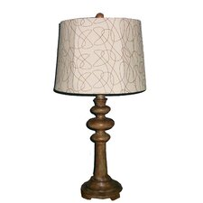 "28"" H Resin Table Lamp with Linen Shade"