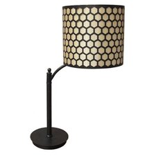 "28"" H Contemporary Table Lamp with Drum Shade"
