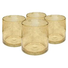 Iris Double Old Fashioned Glass in Citrine (Set of 4)