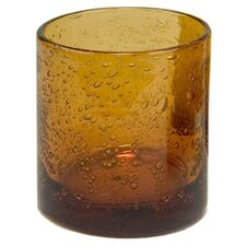 Iris Double Old Fashioned Glass in Amber (Set of 4)