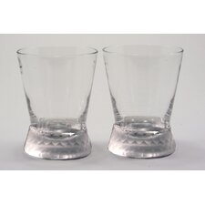 Prescott Double Old Fashioned Glass in Frost (Set of 2)