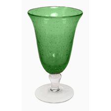 Iris Footed Iced Tea Glass in Green (Set of 4)