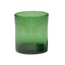 Iris Double Old Fashioned Glass in Green (Set of 4)