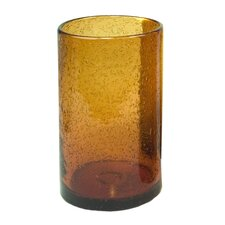 Iris Highball Glass in Amber (Set of 4)