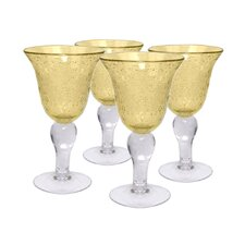 Iris Goblet in Citrine (Set of 4)
