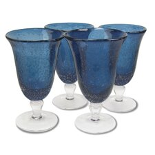 Iris Footed Tea Glass in Slate Blue (Set of 4)