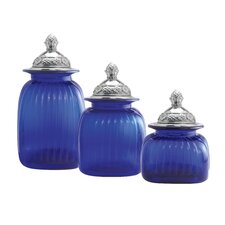 Canister with Mayfair Lid (Set of 3)