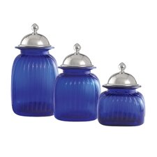 Canister with Barrington Lid (Set of 3)