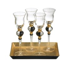 Radiance 5 Piece Cordial Glass with Tray Set