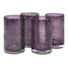 Iris Highball Glass in Plum (Set of 4)