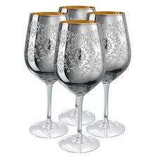 Brocade Goblet in Silver (Set of 4)