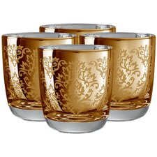 <strong>Artland</strong> Brocade Double Old Fashioned Glass in Gold (Set of 4)