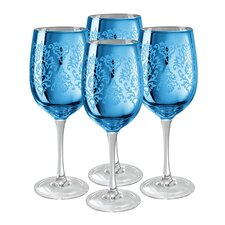 <strong>Artland</strong> Brocade Wine Glass in Blue (Set of 4)