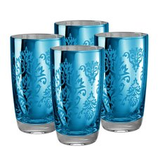 <strong>Artland</strong> Brocade Highball Glass in Blue (Set of 4)