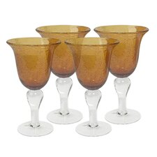 Iris Goblet in Amber (Set of 4)