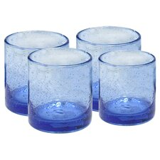 Iris Double Old Fashioned Glass in Light Blue (Set of 4)