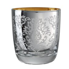 Brocade Double Old Fashioned Glass in Silver (Set of 4)