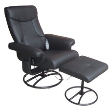 <strong>Comfort Products</strong> Heated Reclining Massage Chair with Ottoman