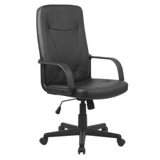 Prescotte Leather Executive Chair in Black