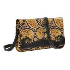 Paisley Print Convertible Cross-Body Clutch