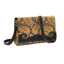 Paisley Print Convertible Cross Body Clutch
