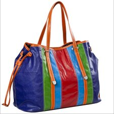<strong>Sydney Love</strong> Head Over Heels Stripe Drawstring Tote