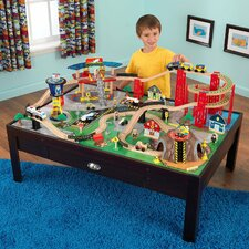 <strong>KidKraft</strong> 100 Piece Airport Train Table Set