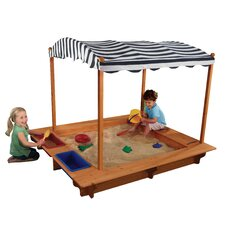 5' Rectangular Sandbox with Canopy & Cover