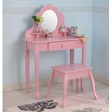 Diva Vanity Set with Mirror in Pink