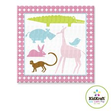 Girl Animals Canvas Art