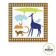 Boy Animals Canvas Art
