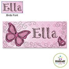 Personalized Butterfly Canvas