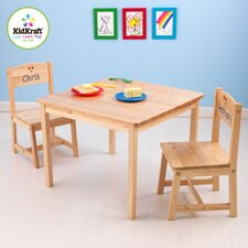 <strong>KidKraft</strong> Personalized Aspen Kids' 3 Piece Table and Chair Set