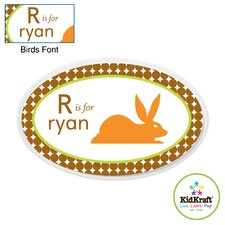 Personalized Boy Animal Oval Wall Plaque