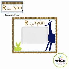 Personalized Boy Animal Frame